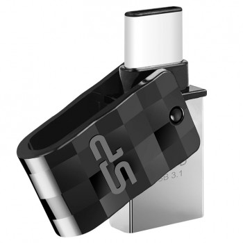 USB Stick 64GB 3.0 Silicon Power USB3.1 + Type C C31 Black