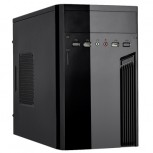 Gehäuse Mini ITX 05I-01 2xUSB + HD Audio Schwarz