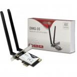 WLAN Wi-Fi6 + BT5.0 PCIe Adapter DMG-35 Antenne 3000Mb