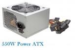 Netzteil ATX 550W 12cm Lüfter 3xSATA,CE,PFC